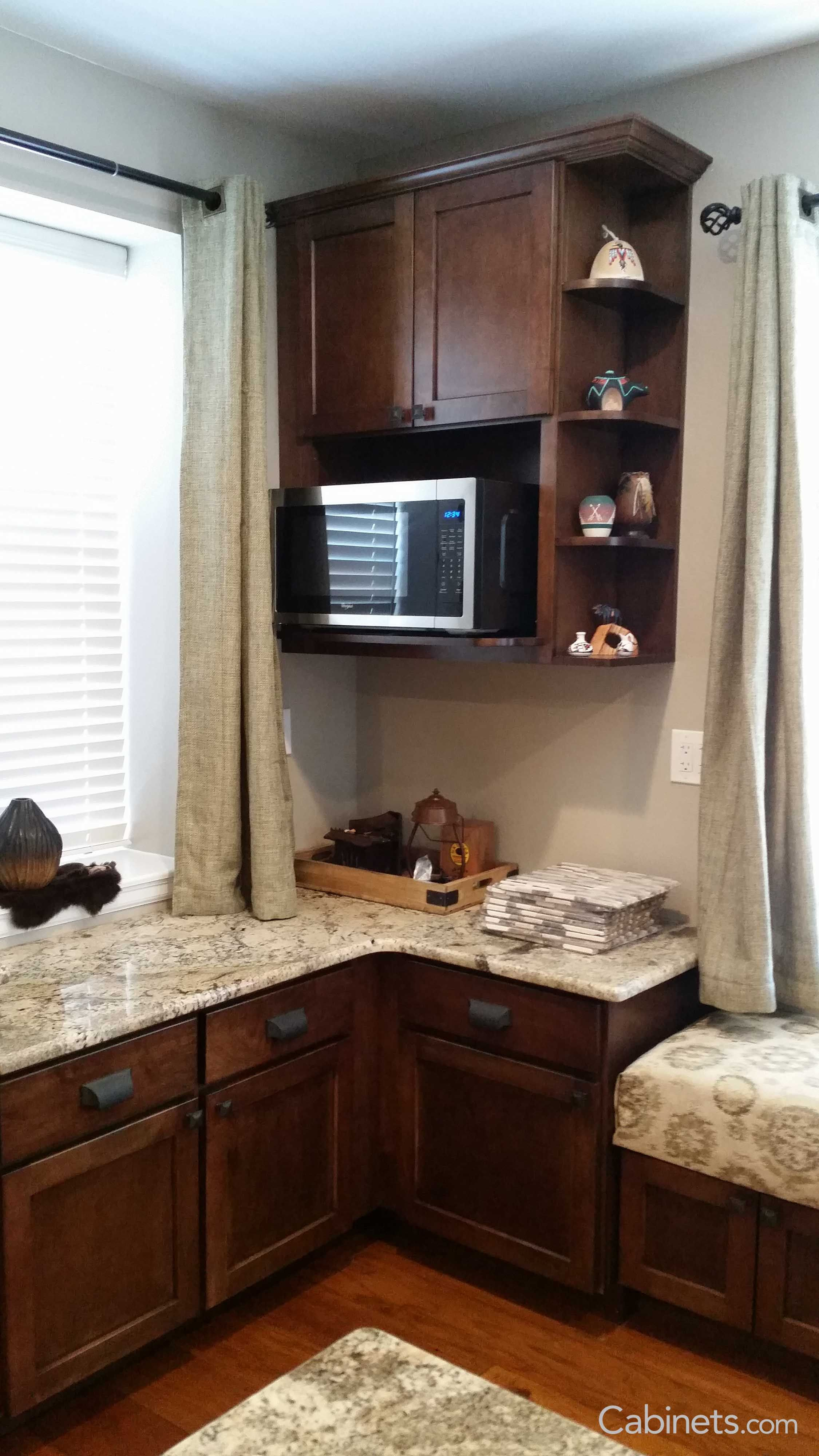 Kitchen Wall Cabinet With Microwave Shelf Kitchen Cabinet Ideas
