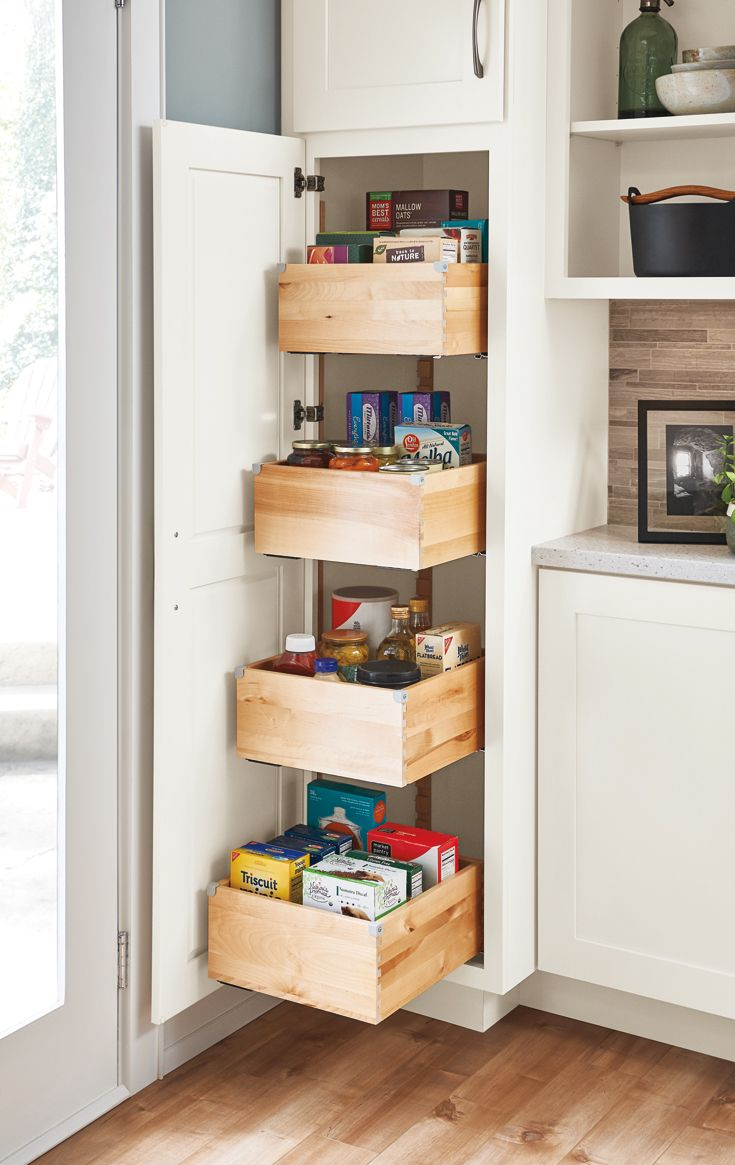 A Tall Pantry With Deep Drawers Makes Achieving A Well Organized in dimensions 735 X 1165