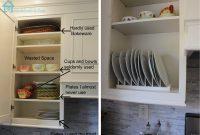 Diy Inside Cabinet Plate Rack Remodelando La Casa with size 1600 X 1194