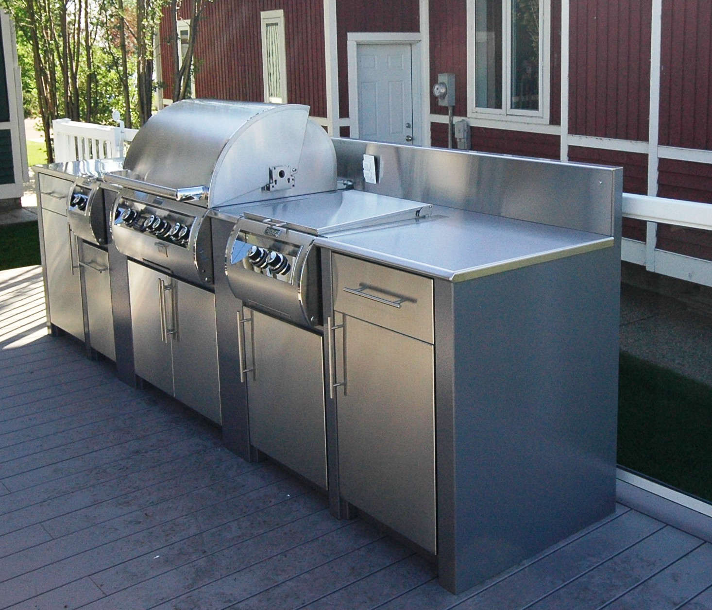 Stainless Steel Modular Kitchen Cabinets: Modular Stainless Steel Outdoor Kitchen Cabinets • Kitchen