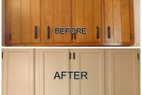 Updated Outdated 1970s Cabinets Filled The Grooves Added Trim within size 1936 X 1936