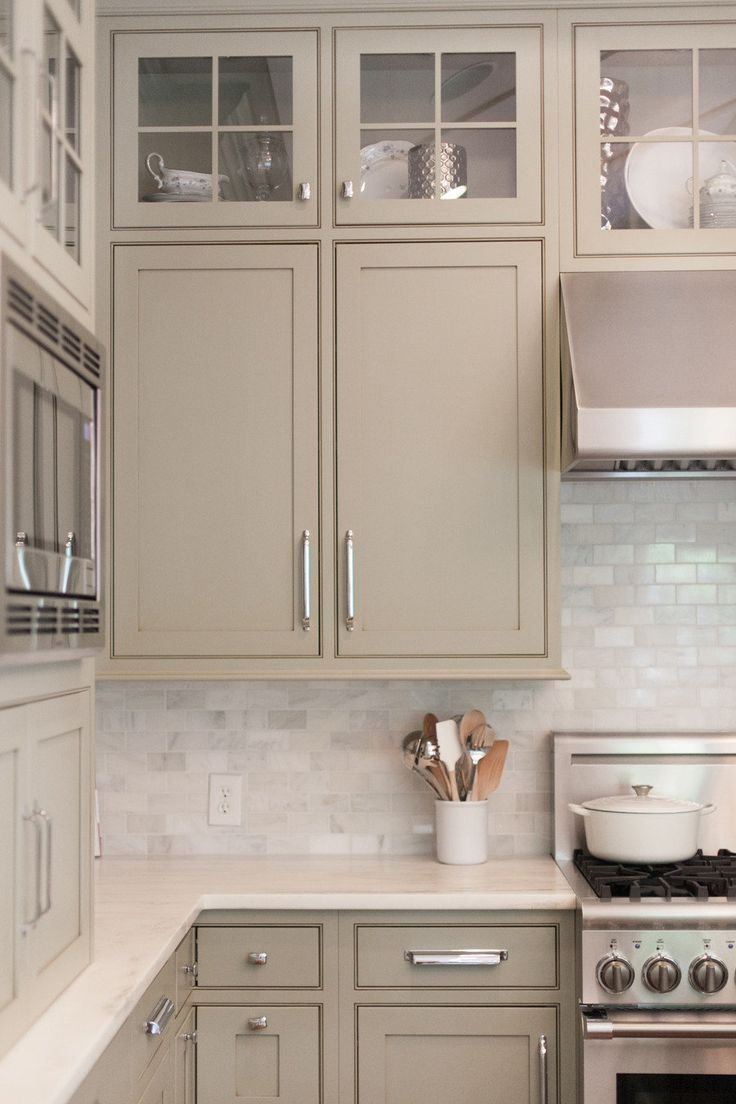 White Kitchen Backsplash Like The Cabinet Color Too Warmer Than within proportions 736 X 1104