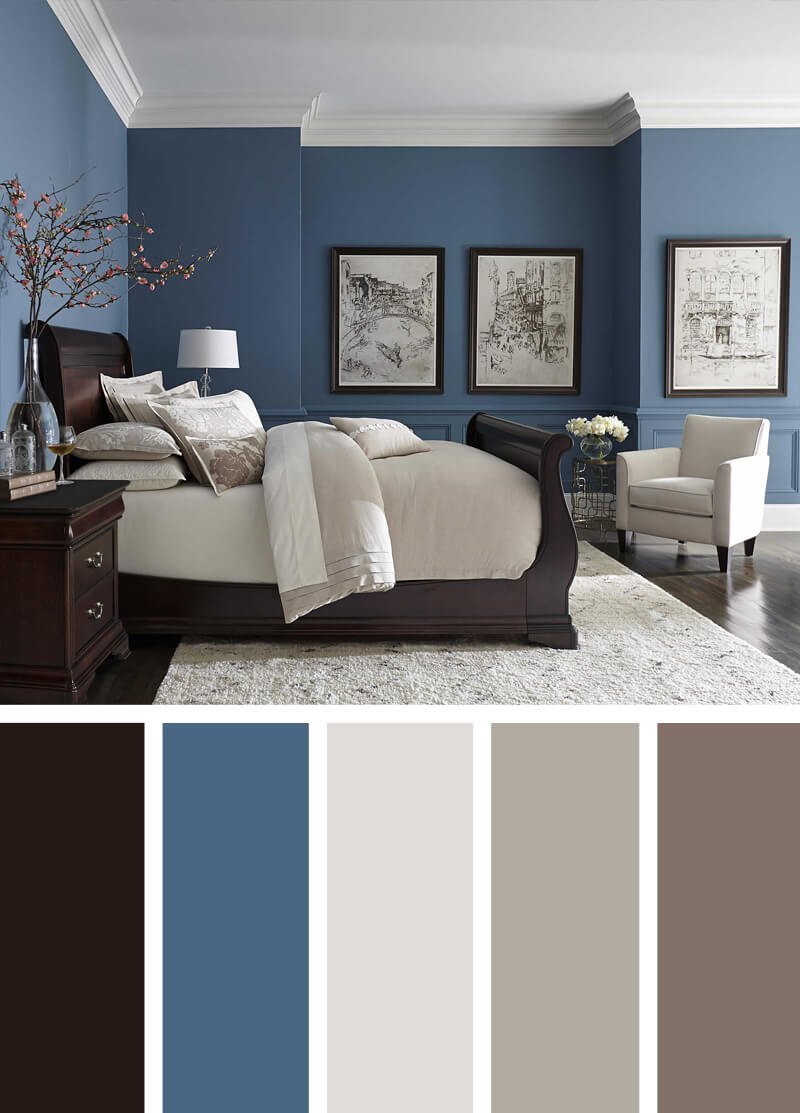 12 Best Bedroom Color Scheme Ideas And Designs For 2019 with regard to size 800 X 1113
