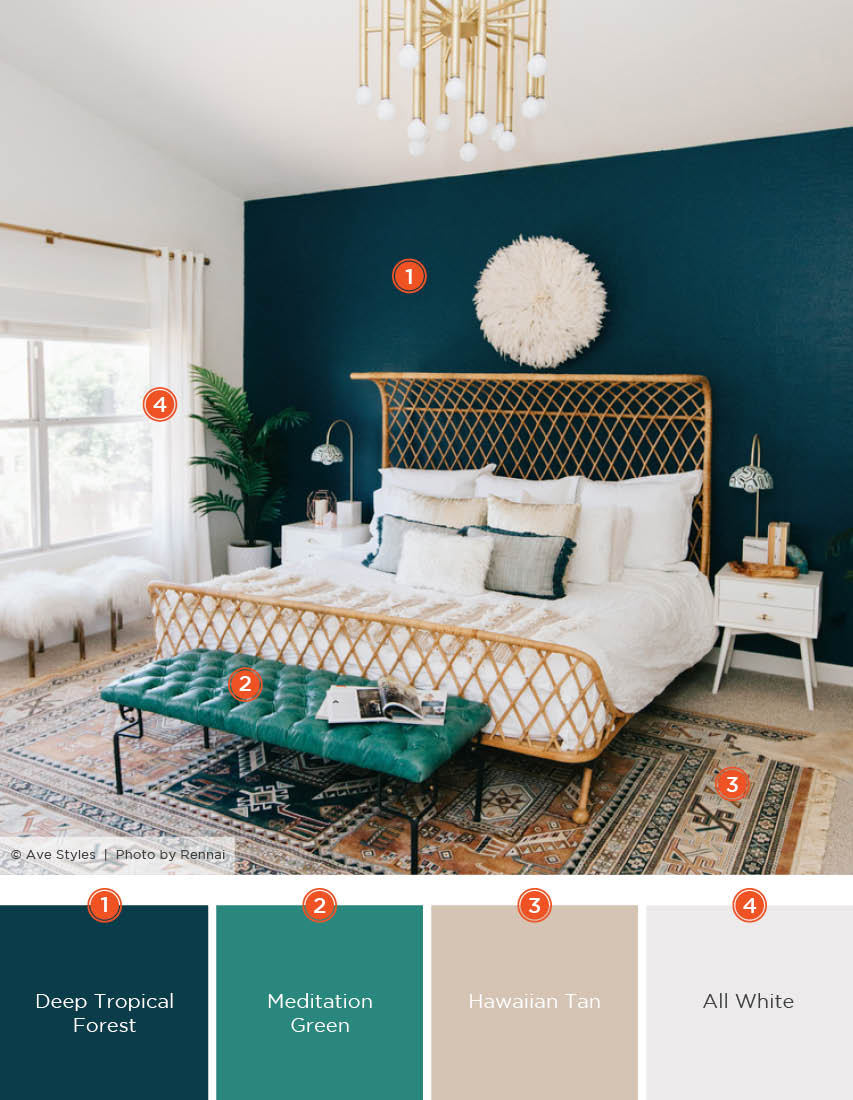 20 Dreamy Bedroom Color Schemes Shutterfly pertaining to size 853 X 1100