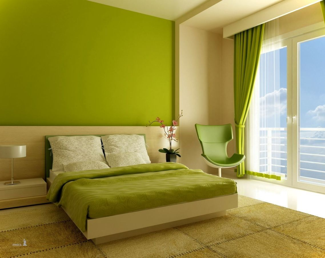 Bedroom Bedroom Colors Lime Green And Beige Color Wall Bedroom for sizing 1138 X 906