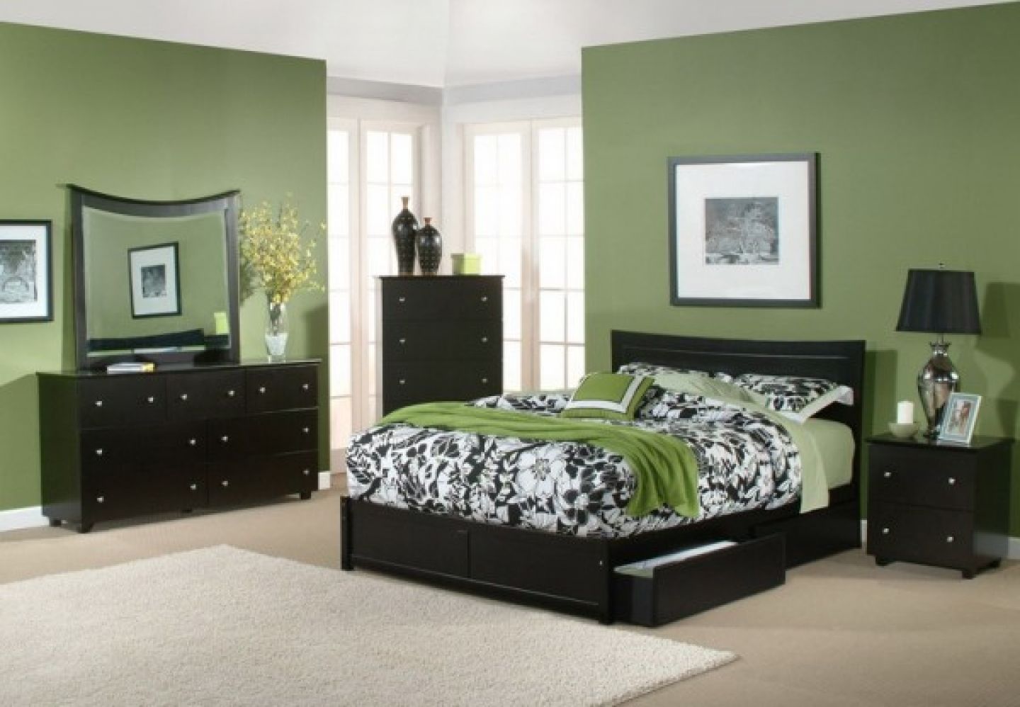 Cozy Paint Color For Bedroom With Dark Furniture Interior Design for size 1440 X 998