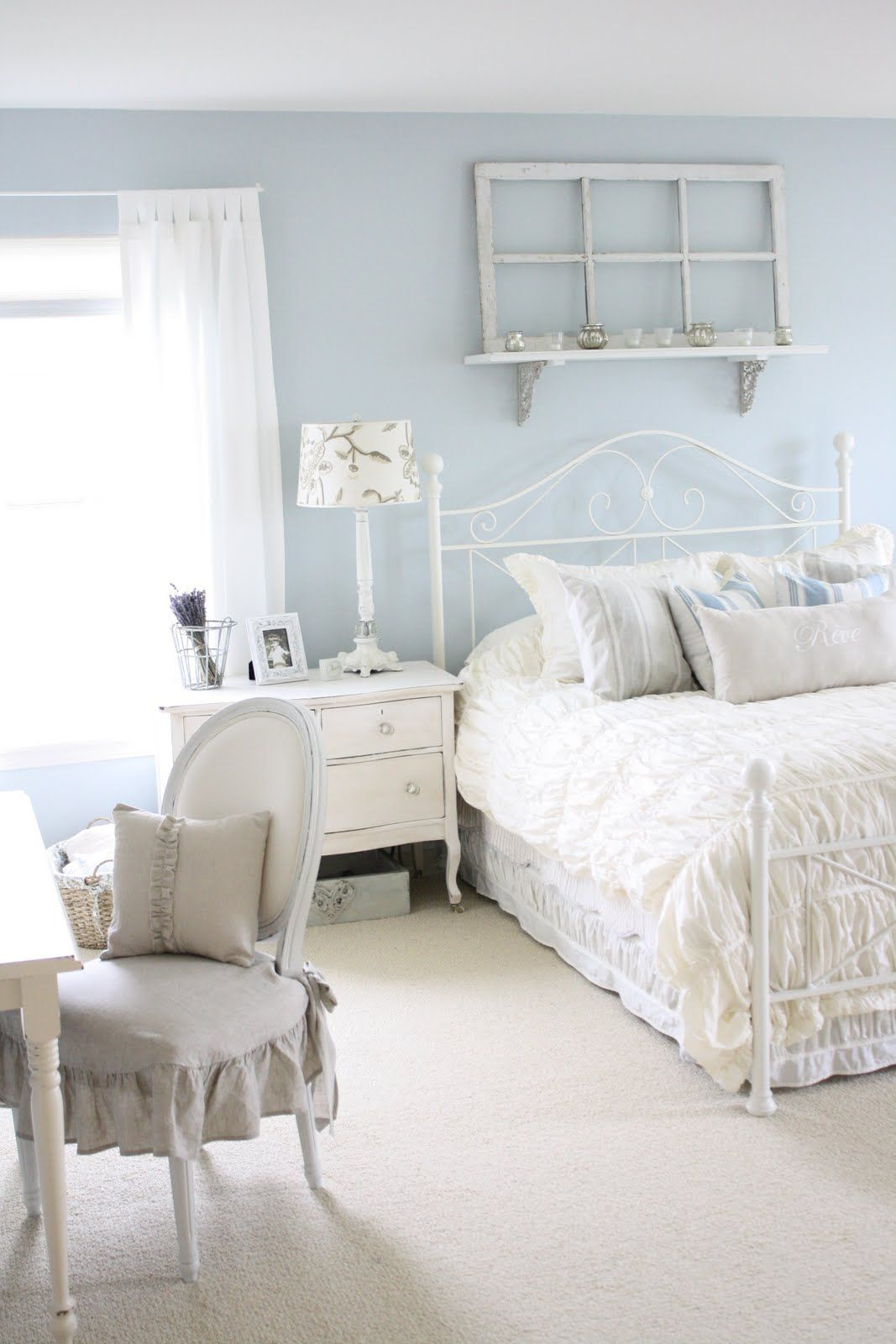 Like This Wall Color Nesting Shab Chic Bedroom Furniture in proportions 1067 X 1600