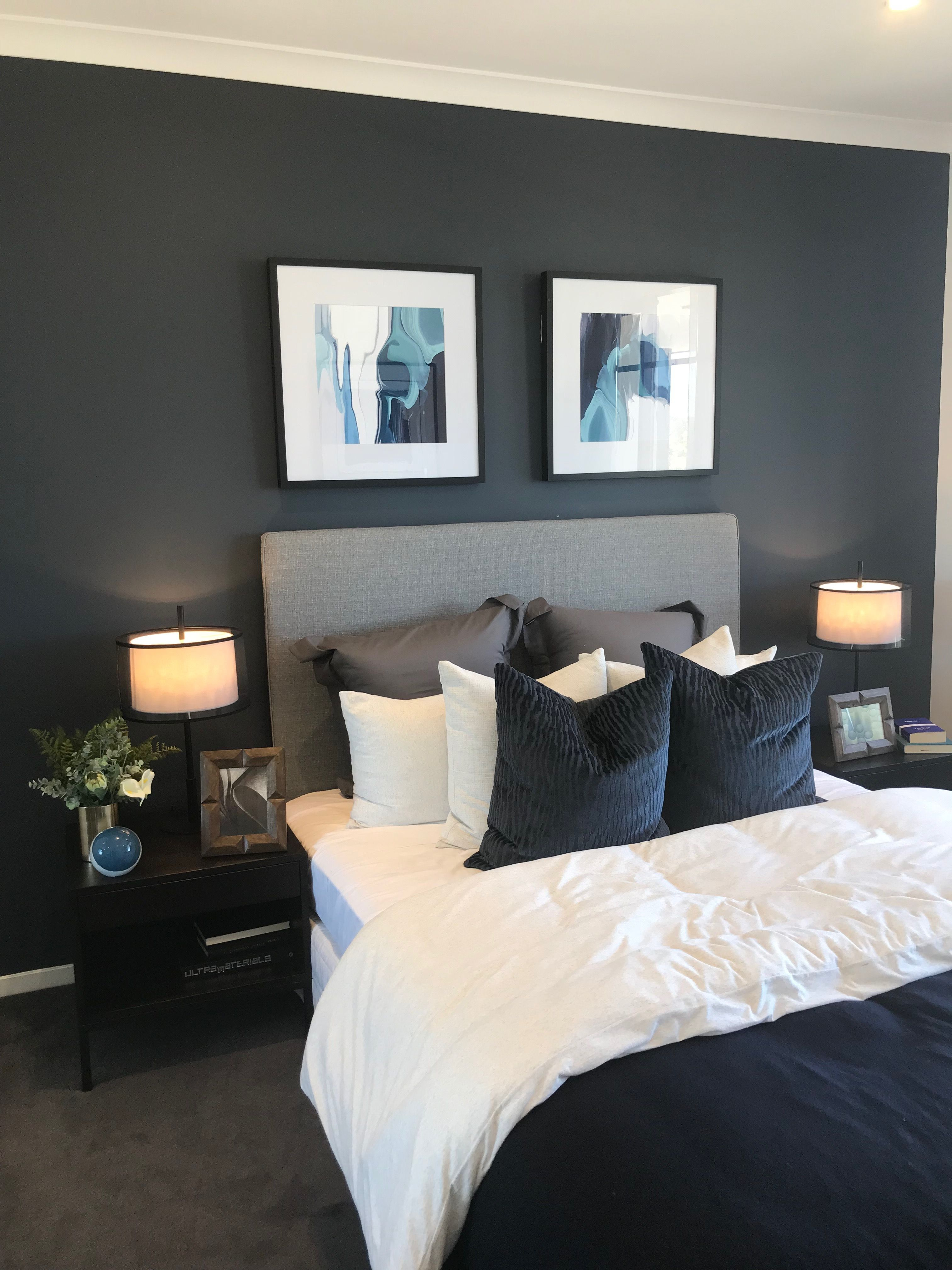 Love All Of The Colors Dark Blue Gray White Bedroom Ideas In with measurements 3024 X 4032