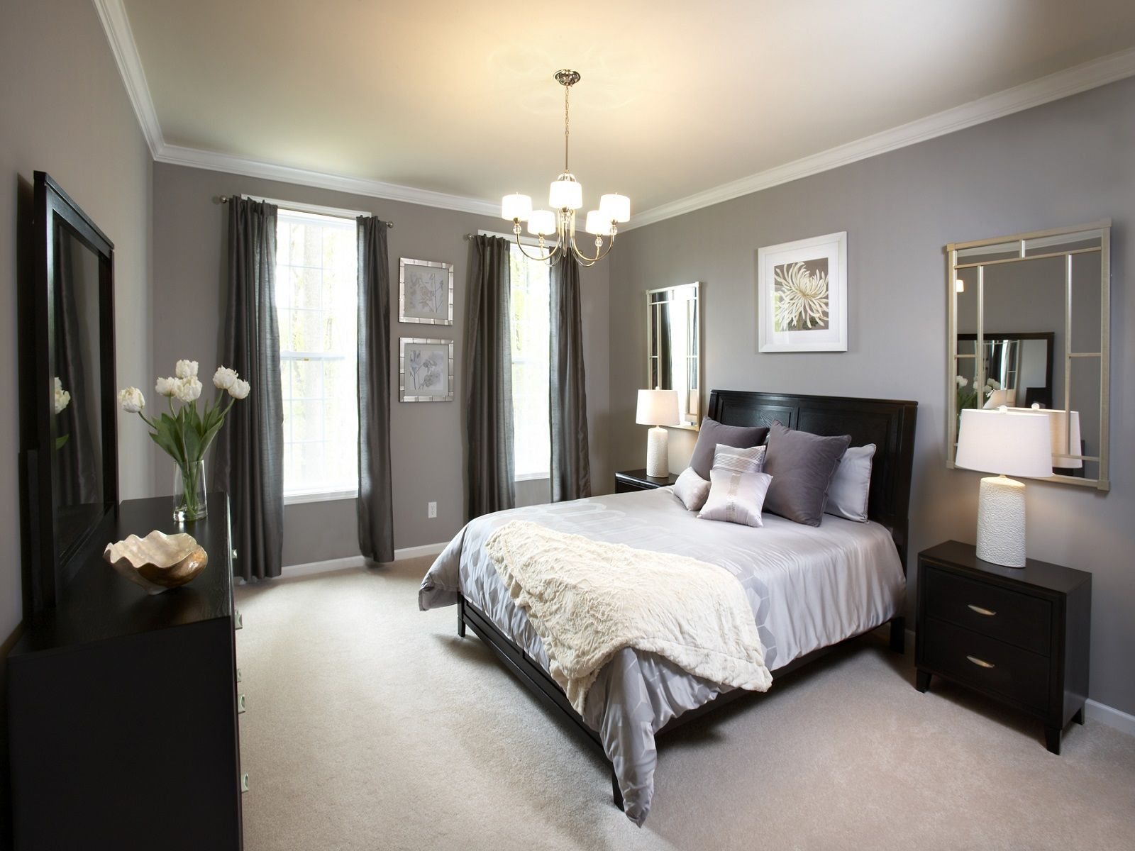 Master Bedroom Paint Colors With Dark Furniture Home Bedroom in measurements 1600 X 1200