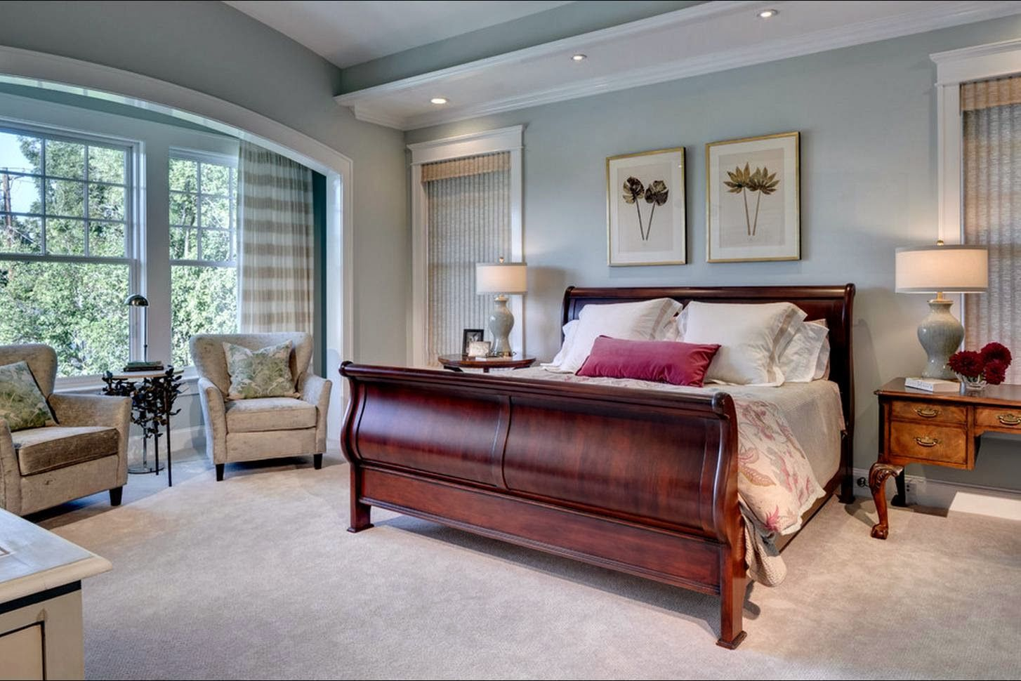 Master Bedroom Paint Colors With Dark Furniture Master Bedroom within size 1454 X 970