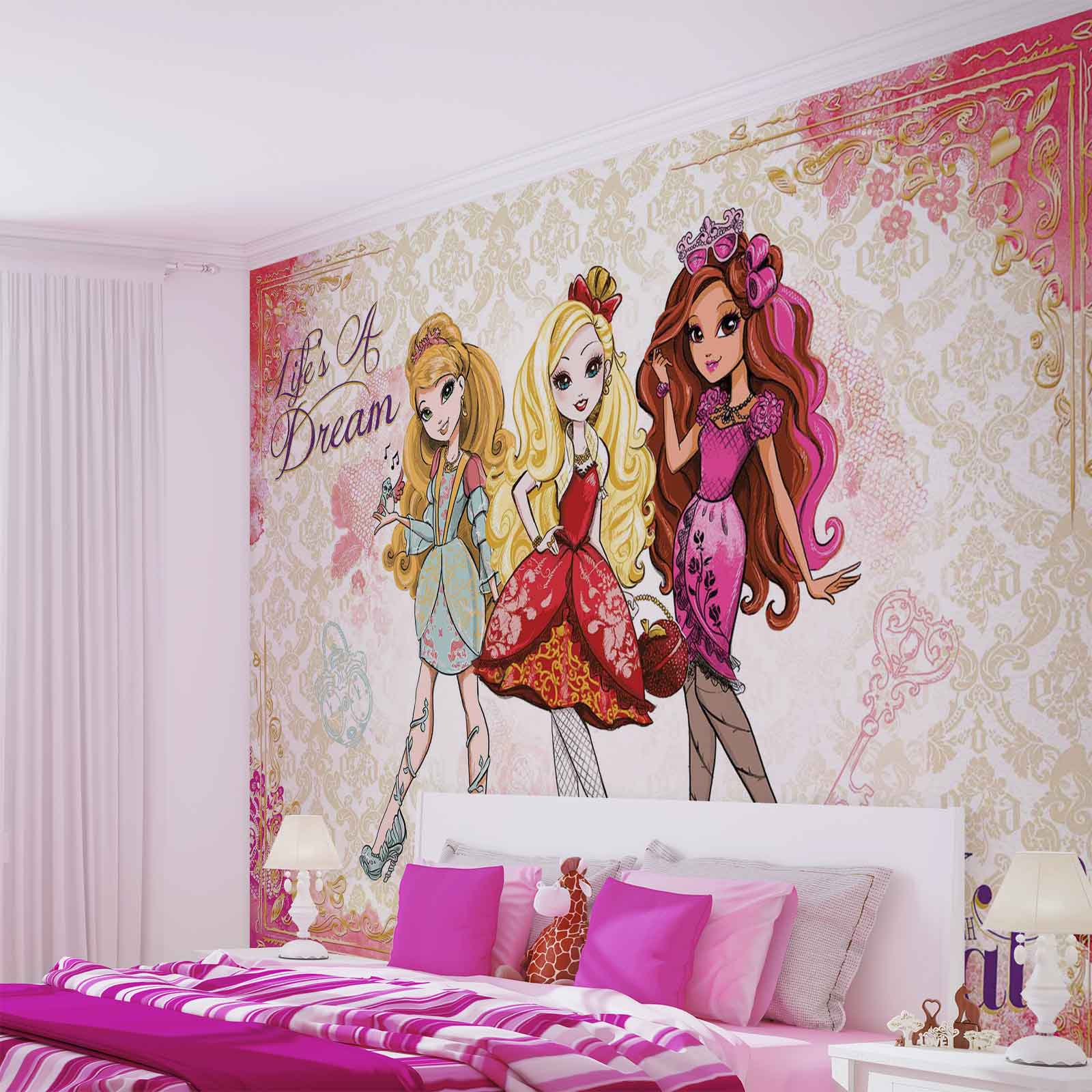 Monster High Bedroom Accessories Inspired Ever After Wall Mural intended for size 1600 X 1600
