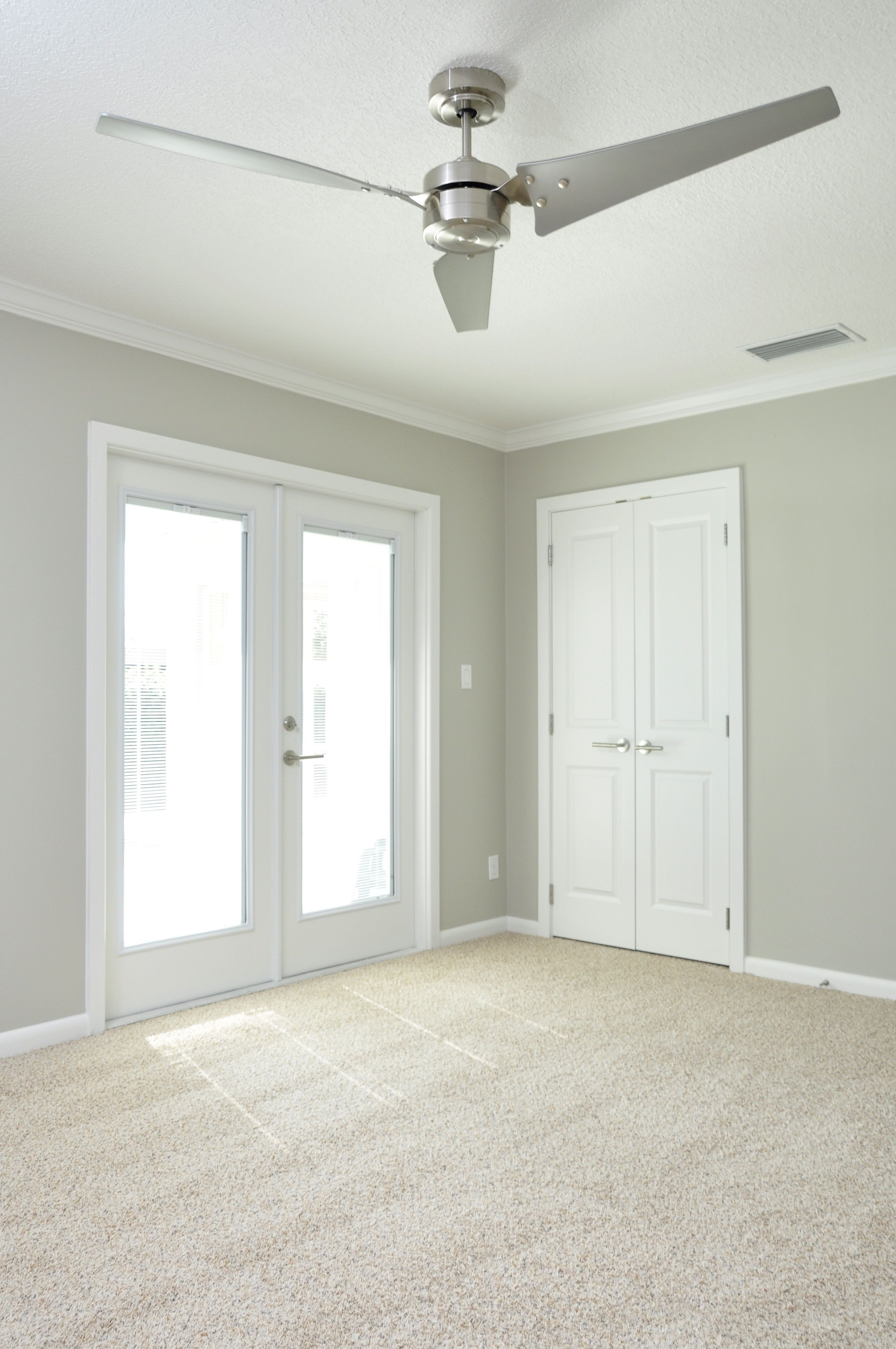 Neutral Shimmery Gray Walls With Clean White Trim Double French regarding dimensions 2752 X 4143