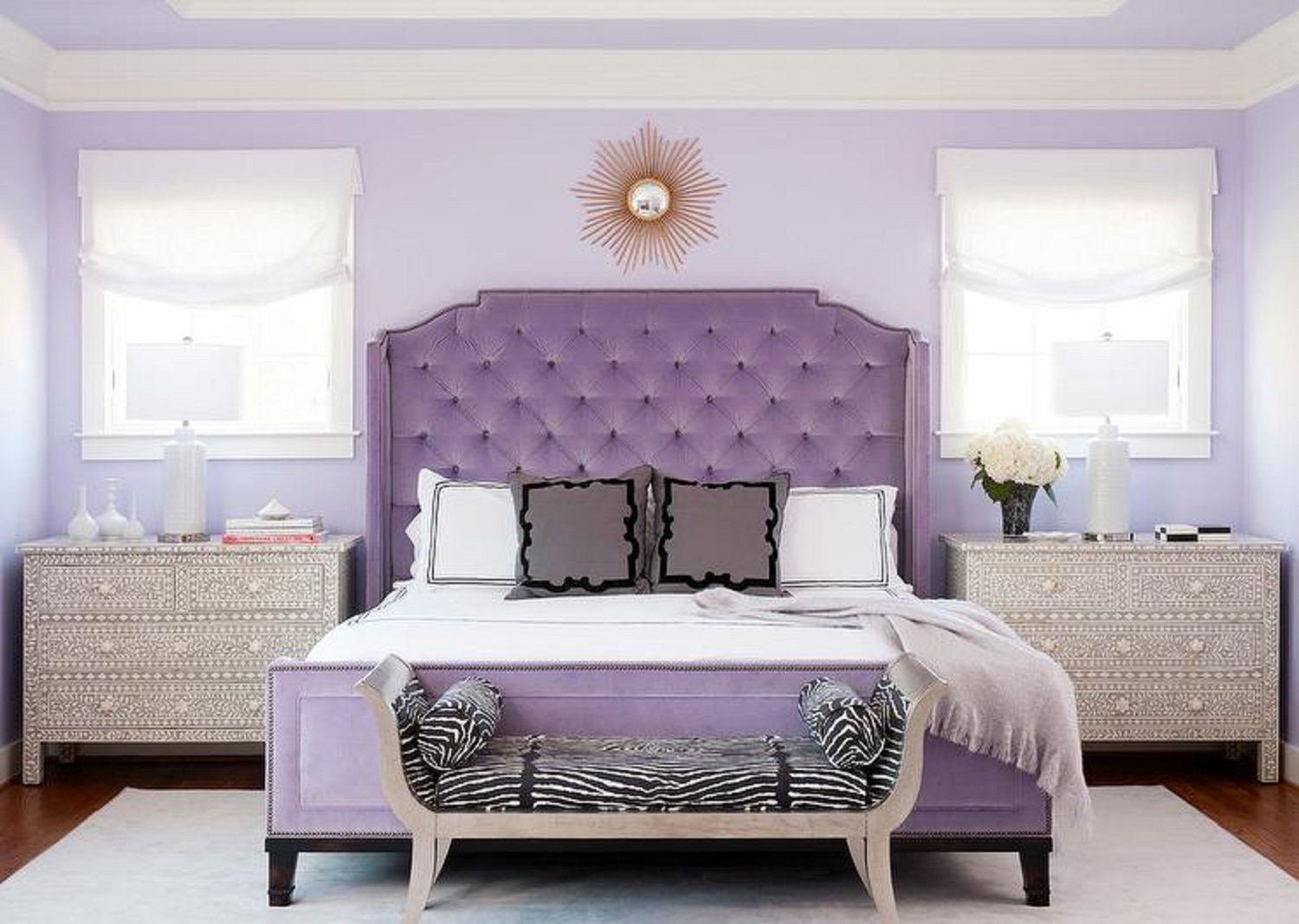 Purple Bedrooms Tips And Decorating Ideas regarding size 1500 X 1068