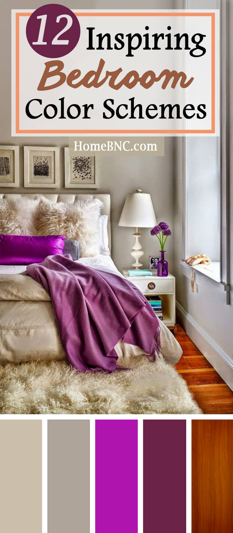 12 Best Bedroom Color Scheme Ideas And Designs For 2019 inside dimensions 800 X 1832