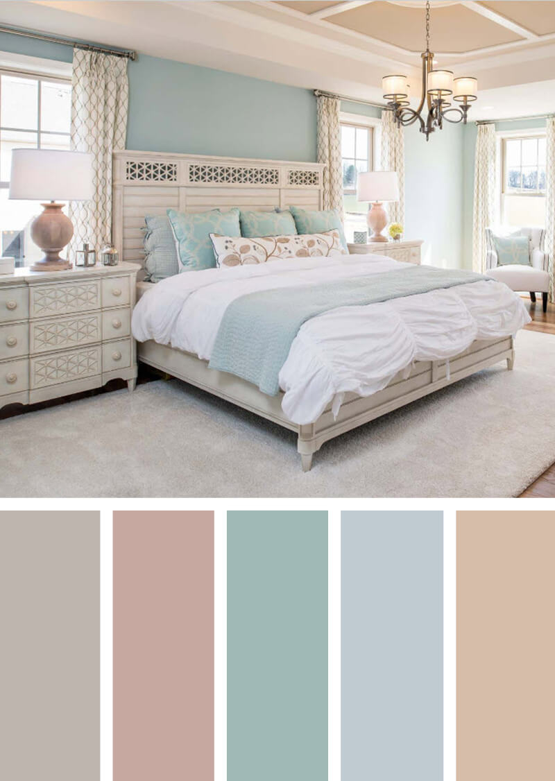 12 Best Bedroom Color Scheme Ideas And Designs For 2019 within size 800 X 1126