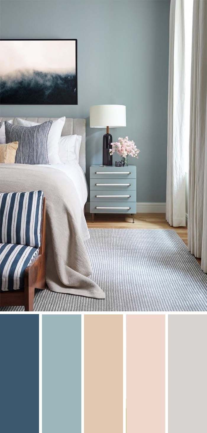 20 Beautiful Bedroom Color Schemes Color Chart Included throughout measurements 700 X 1460