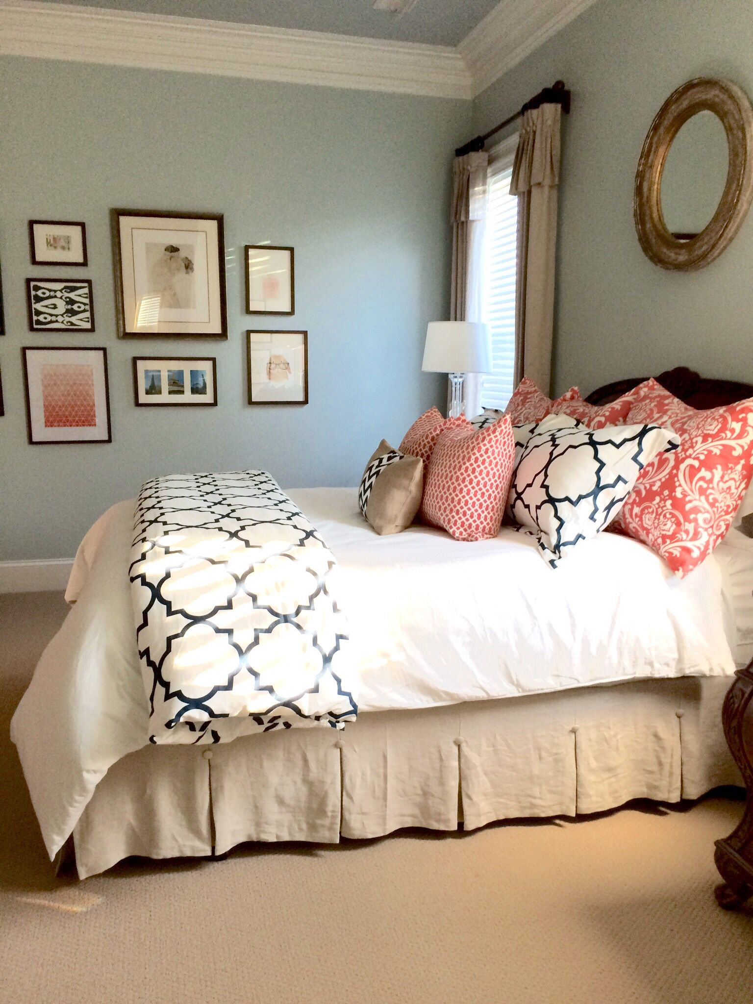 Completed Linen Navy And Coral Bedroom Future House with size 1536 X 2048