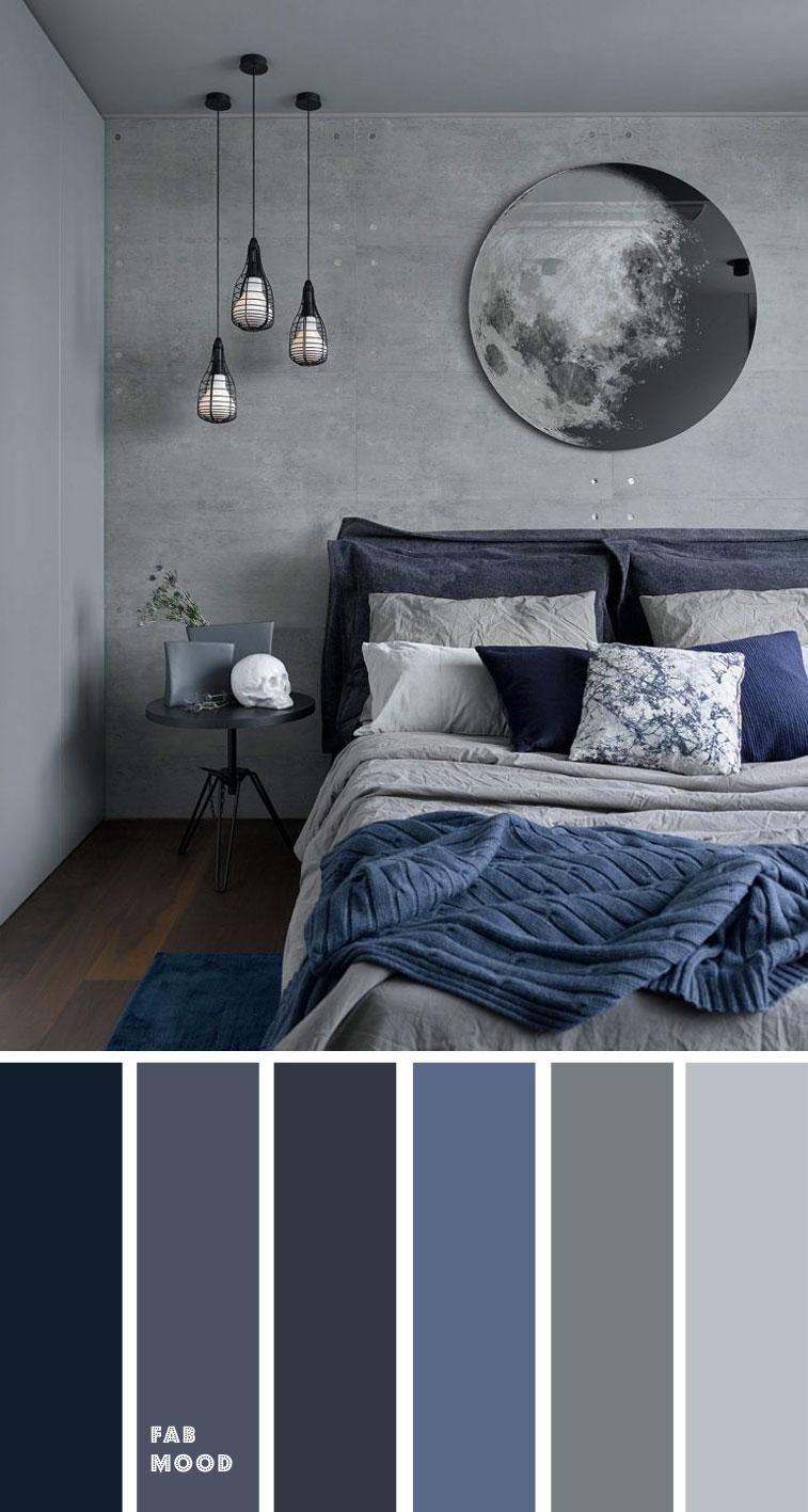 Grey And Dark Blue Bedroom Color Scheme Grey Bedroom Color in dimensions 757 X 1417