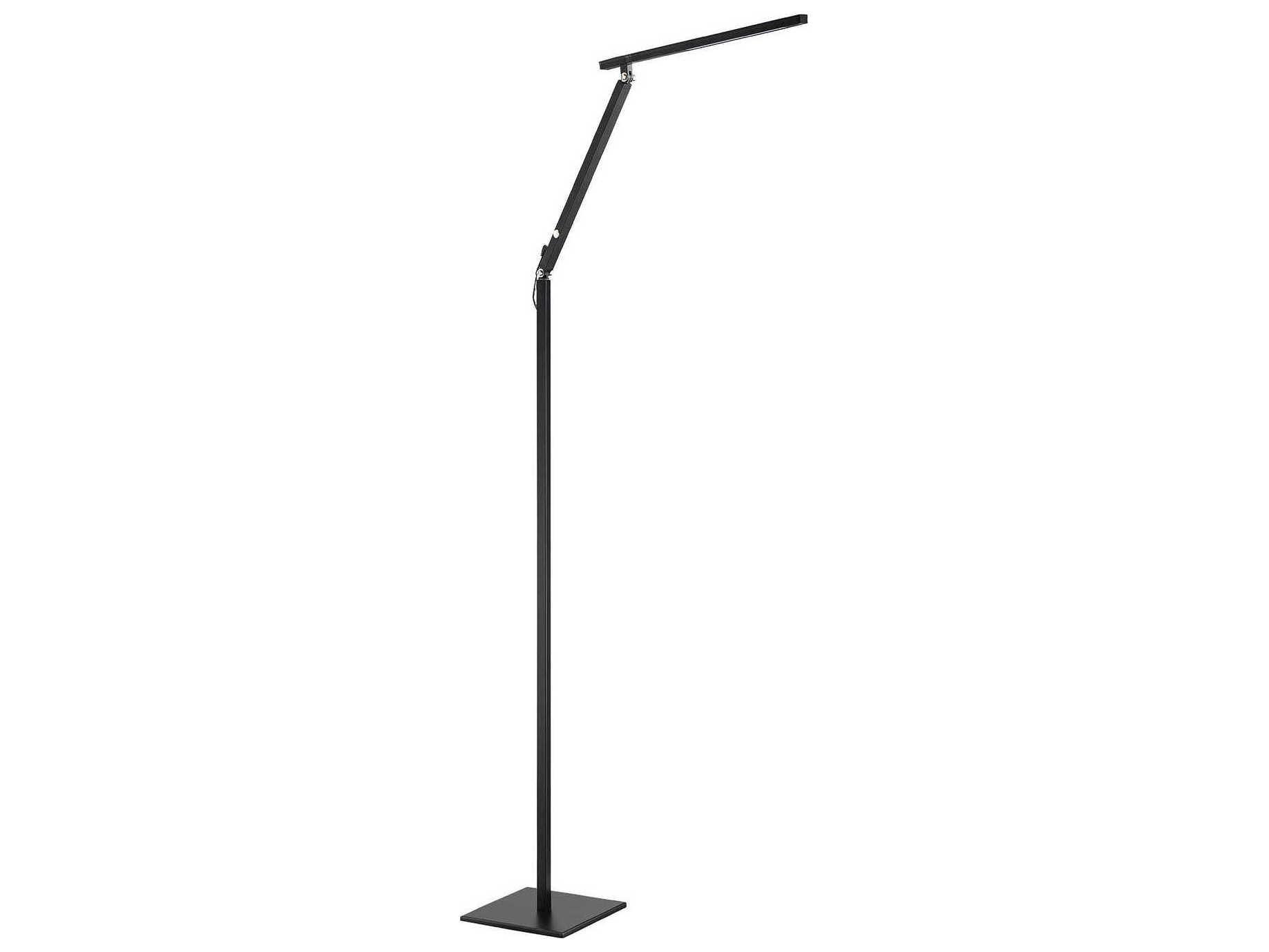 Kendal Lighting Pazz Black Led Floor Lamp regarding sizing 1837 X 1378