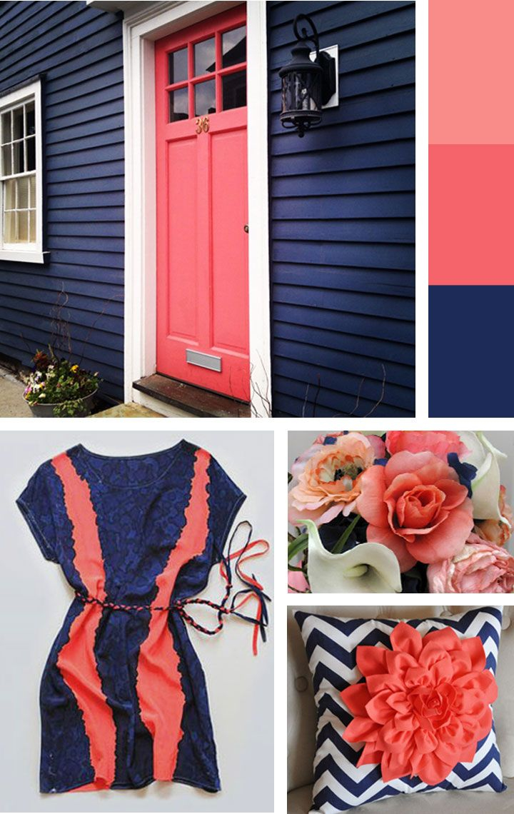 Love These Inspiration Pics Blue And Coral Bedrooms Color regarding sizing 720 X 1140