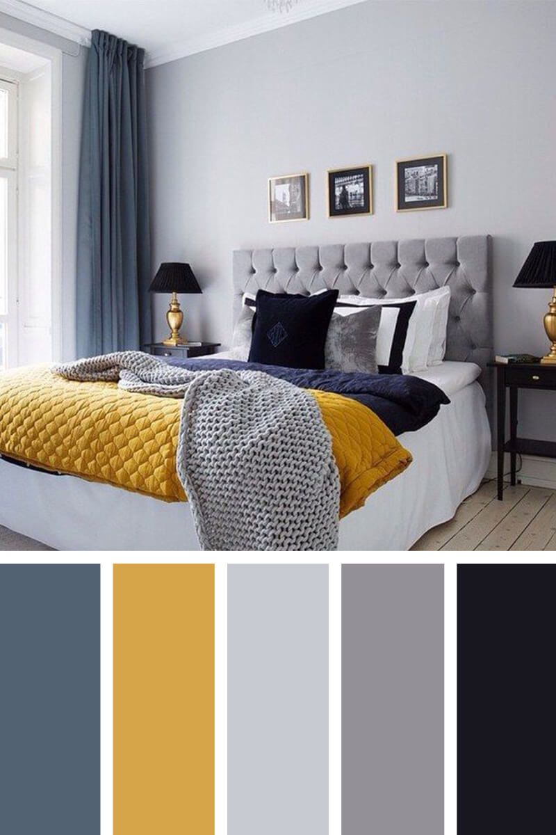 Warm Winter Navy Gray And Goldenrod Bedroom Colors Best inside size 800 X 1200