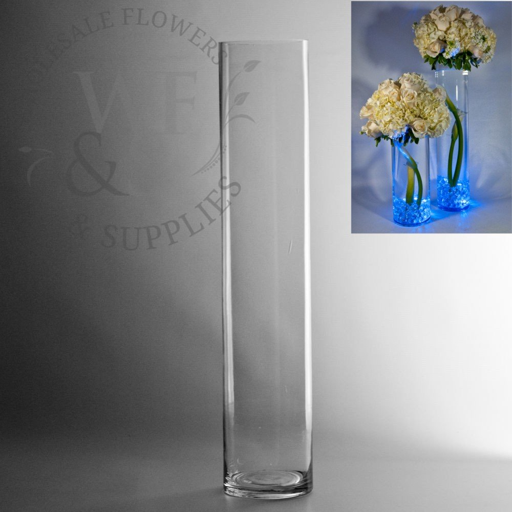 20 X 4 Glass Cylinder Vase within measurements 1000 X 1000