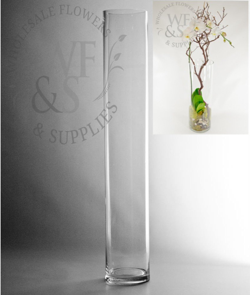 24x4 Glass Cylinder Vase throughout size 848 X 1000