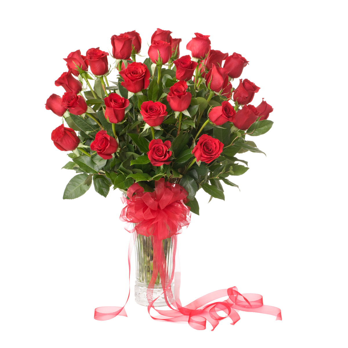 50 Red Roses Arranged In Vase within measurements 1200 X 1200