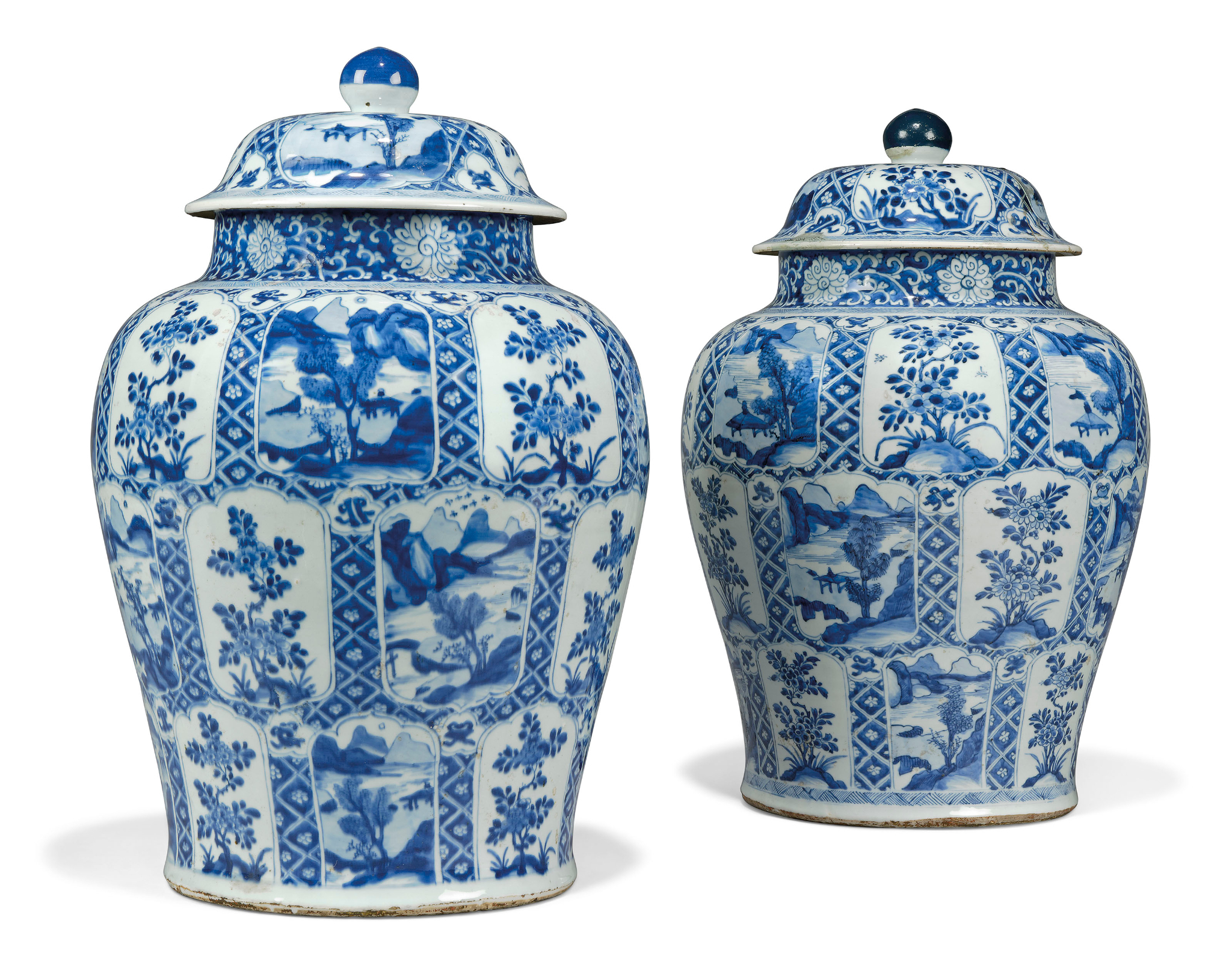 A Large Pair Of Chinese Blue And White Baluster Vases And throughout proportions 2048 X 1609