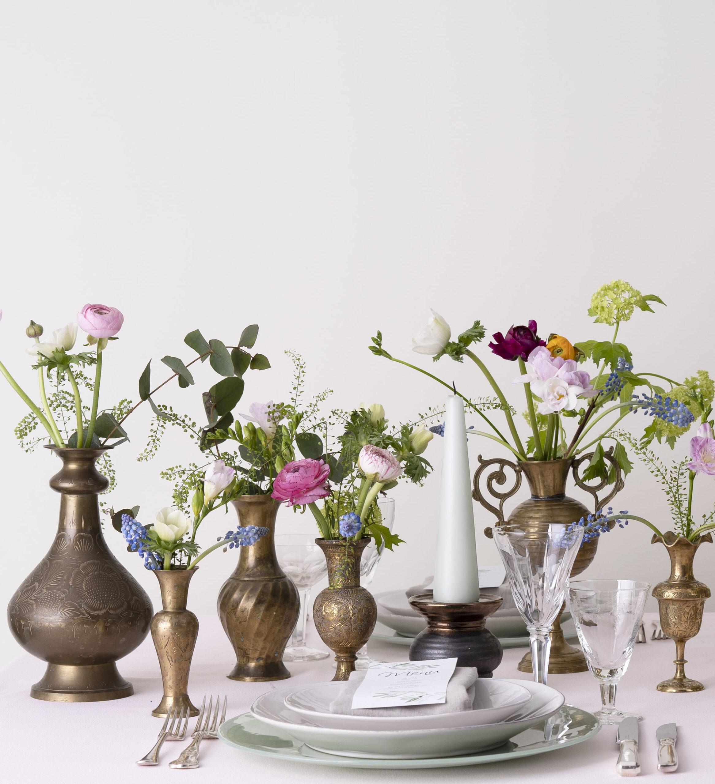 Antique Gold Brass Vase Classic Crockery Event Hire inside size 2333 X 2560