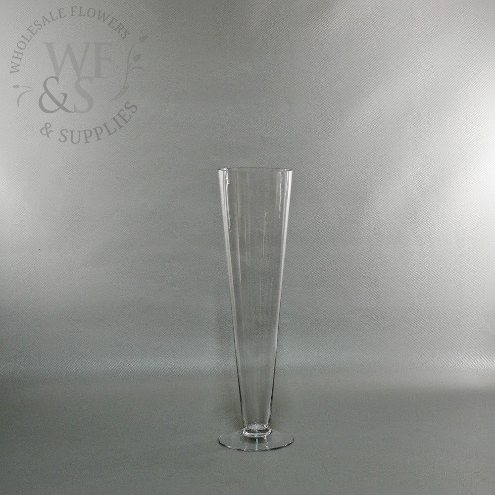 Clear Glass Pilsner Vase 16 within dimensions 1000 X 1000