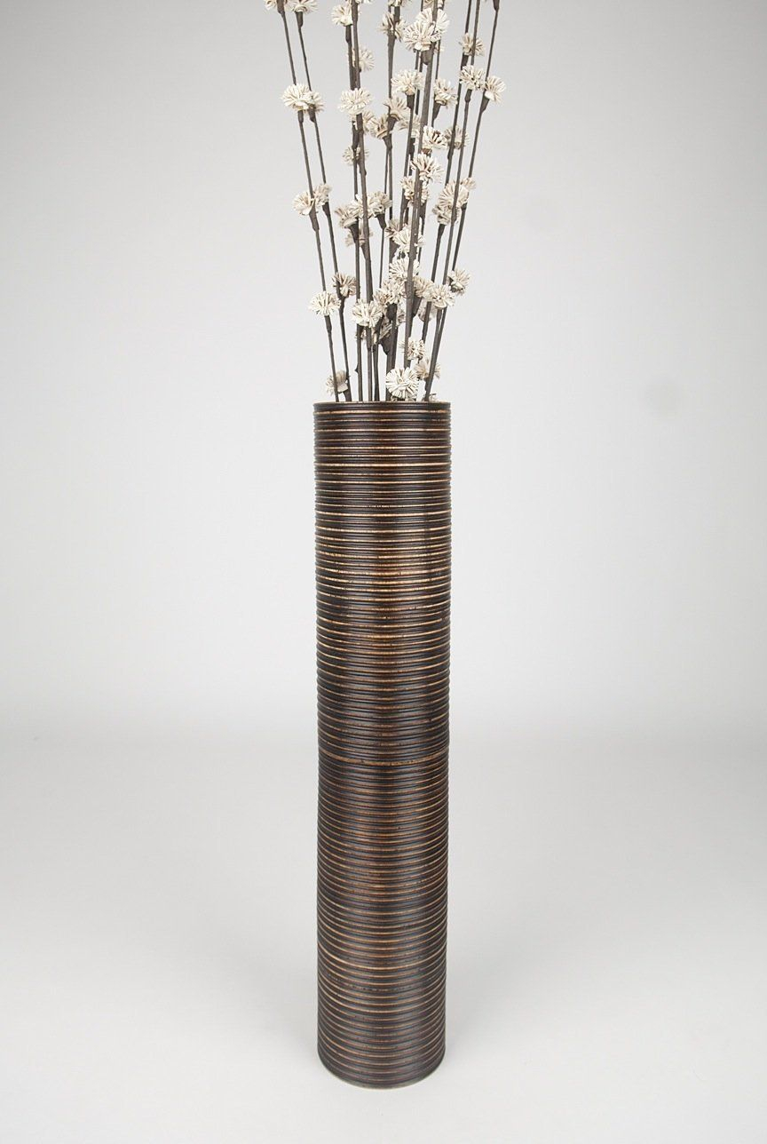Decorative Tall Floor Vase Wood Height 75cm Brown with regard to proportions 864 X 1288