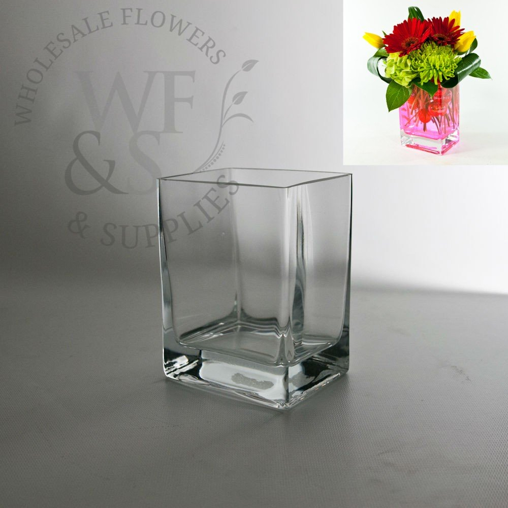 Glass Rectangle Vase 55x3x4 in measurements 1000 X 1000