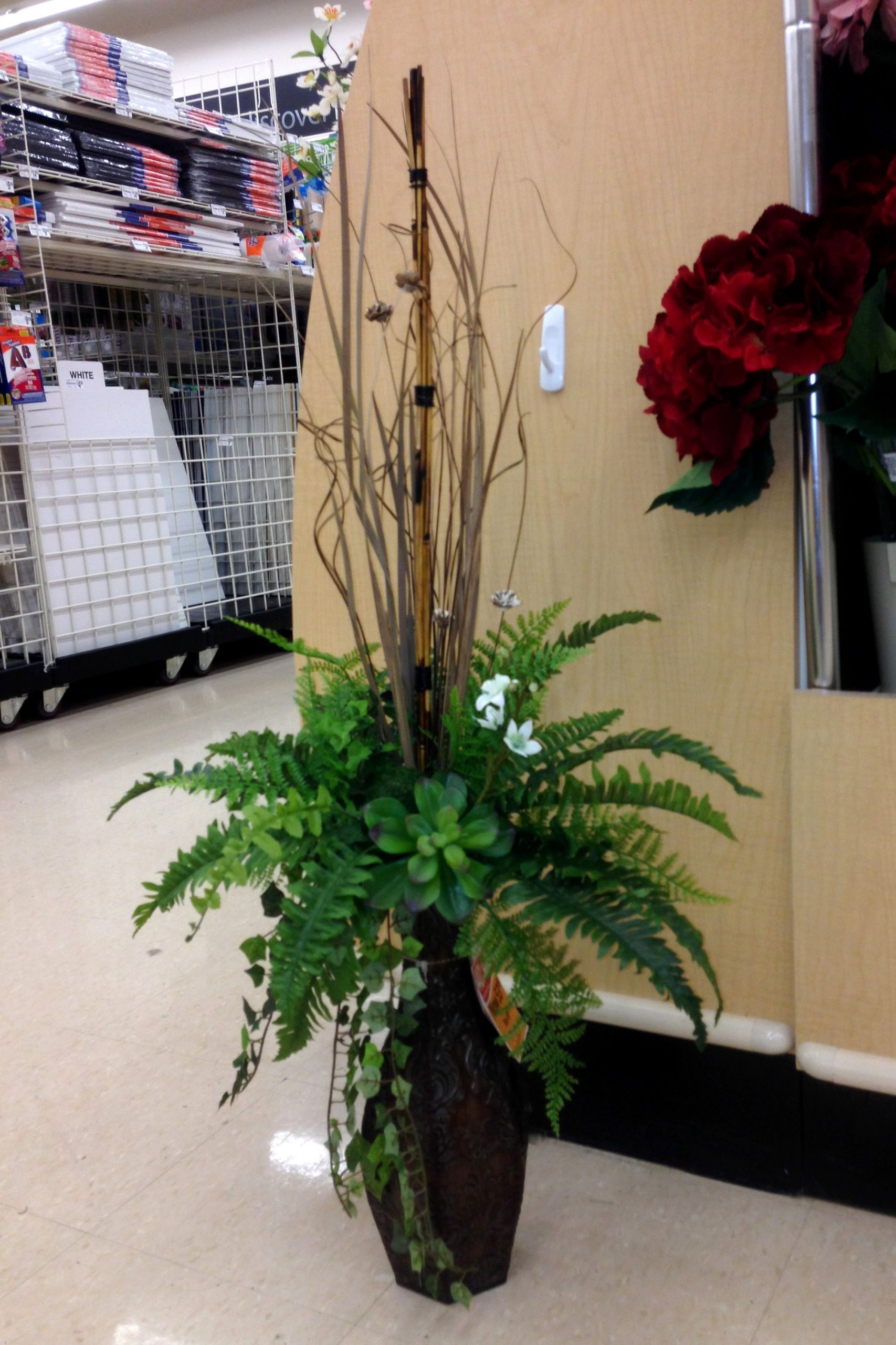 Greens In A Tall Vase Wall Flower Vases Tall Floral intended for proportions 2000 X 3000