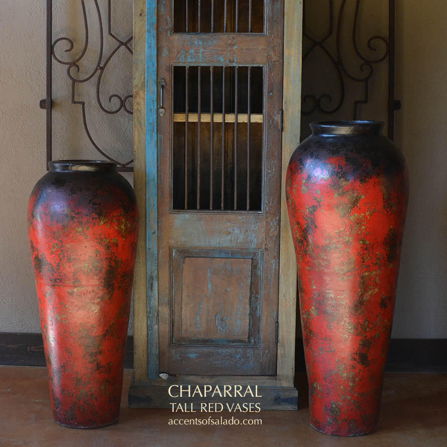 Hacienda Tall Red Floor Vases intended for size 890 X 890