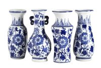 Handpainted Chinese Bud Vases Set Of 4 Bud Vases Blue within sizing 1200 X 1200