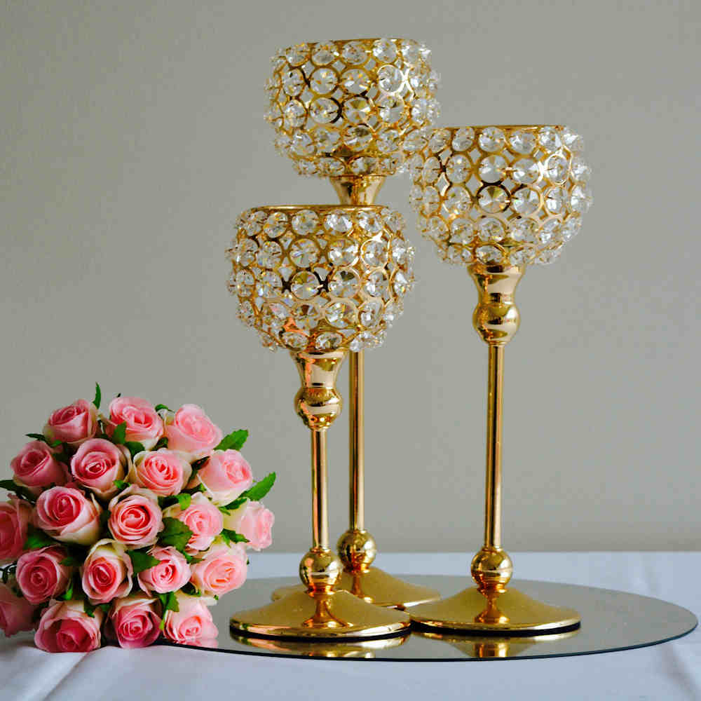 Hire Crystal Goblet Candle Holders Gold within measurements 1000 X 1000
