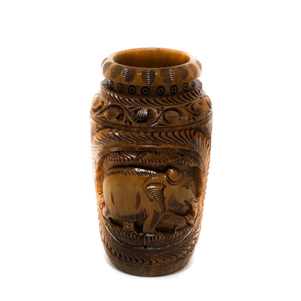 Intricately Designed Wooden Flower Vase within sizing 1000 X 1000