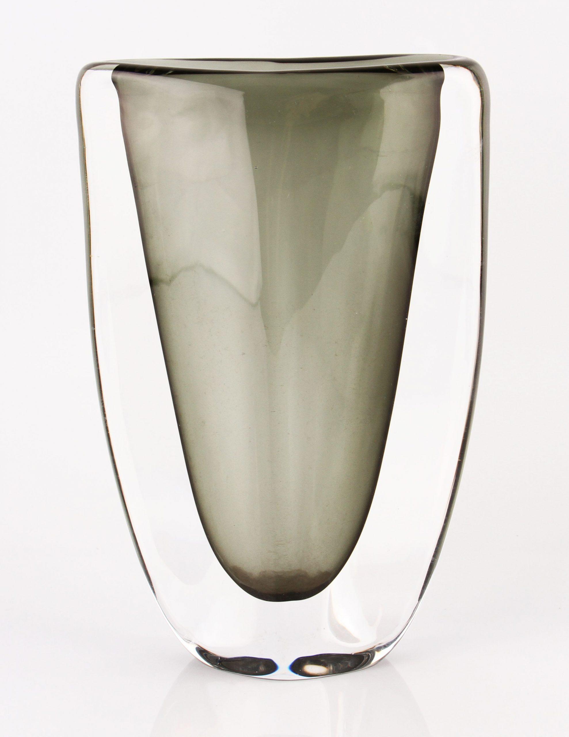 Large Vintage Orrefors Green Dusk Range Glass Vase Nils pertaining to measurements 2341 X 3031