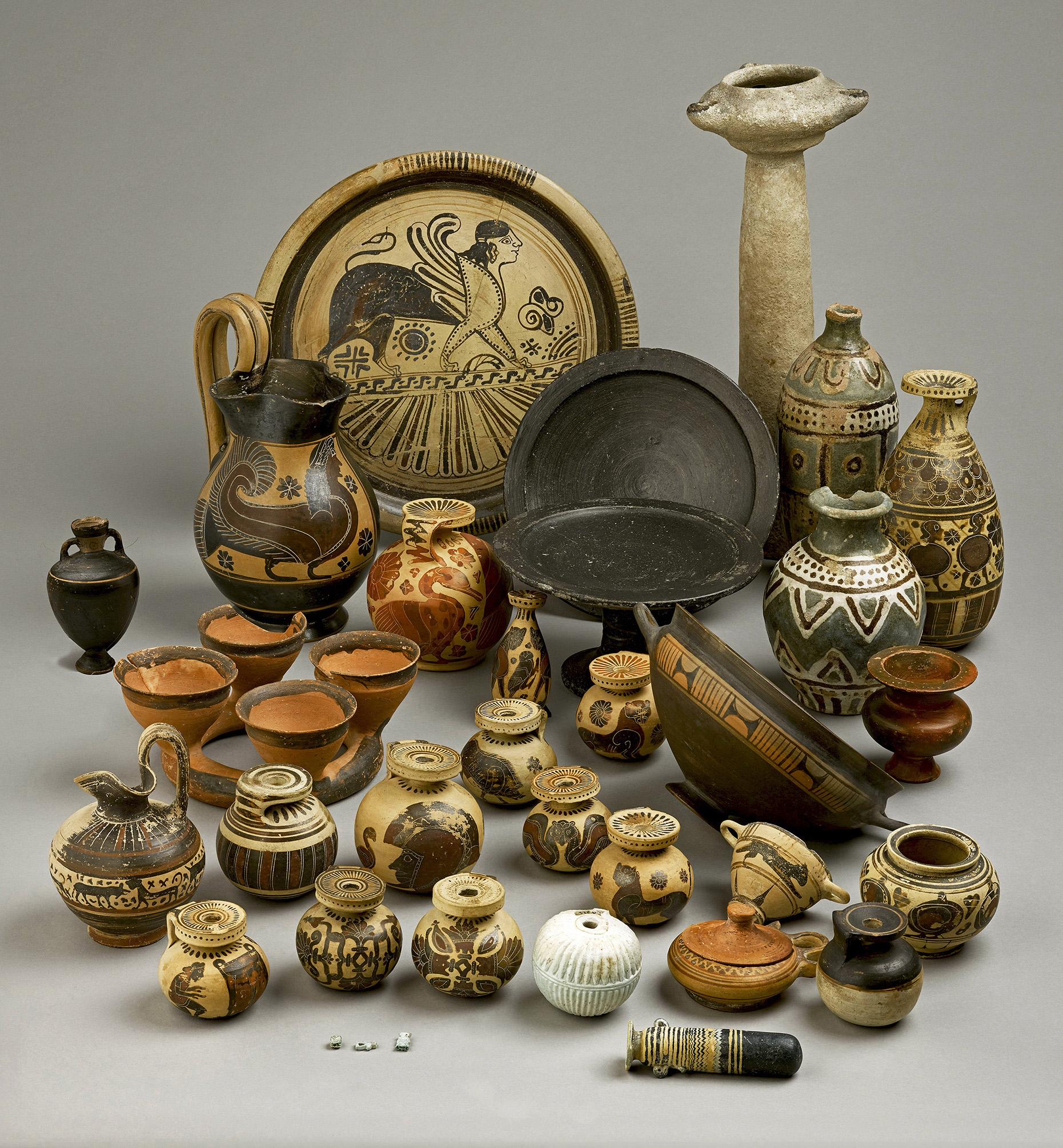 Le Tombeau A De Camiros Les Vases Archaques Et Leurs Contenus within proportions 1861 X 2011