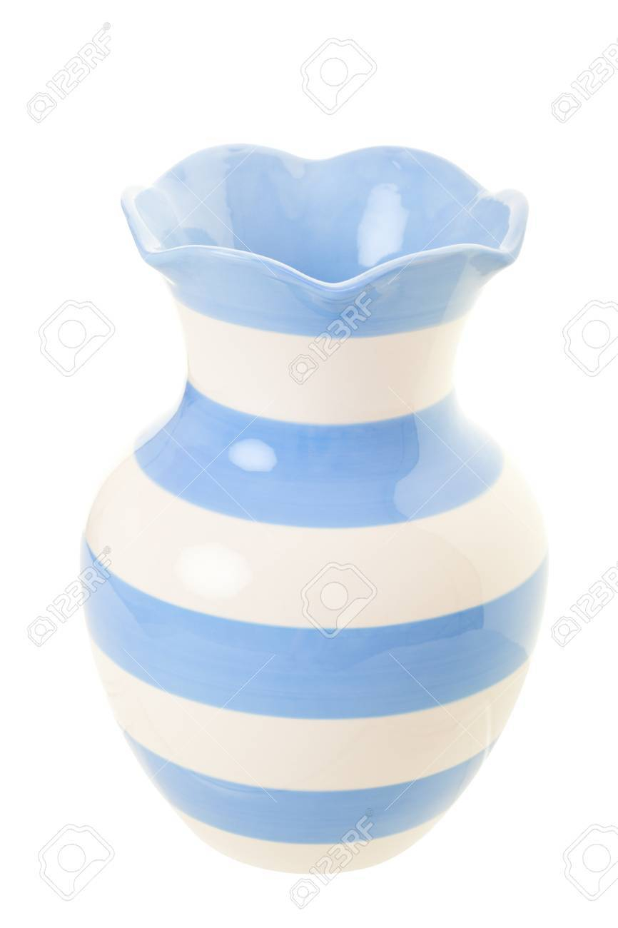Pale Blue And Cream Striped Vase for measurements 866 X 1300