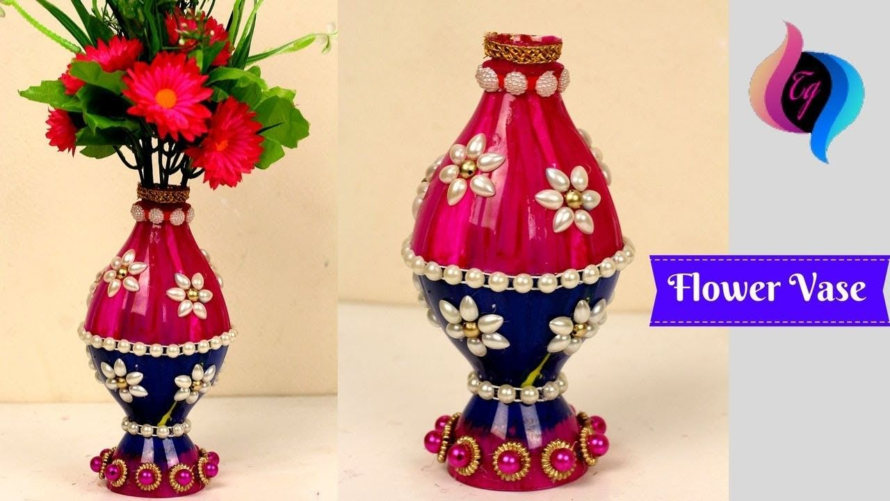 Plastic Bottle Flower Vase Craft Ideas Flower Vase Made pertaining to dimensions 1280 X 720