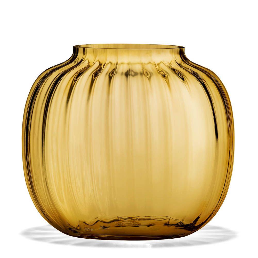 Primula Oval Vase 125cm Amber Holmegaard in measurements 1000 X 1000
