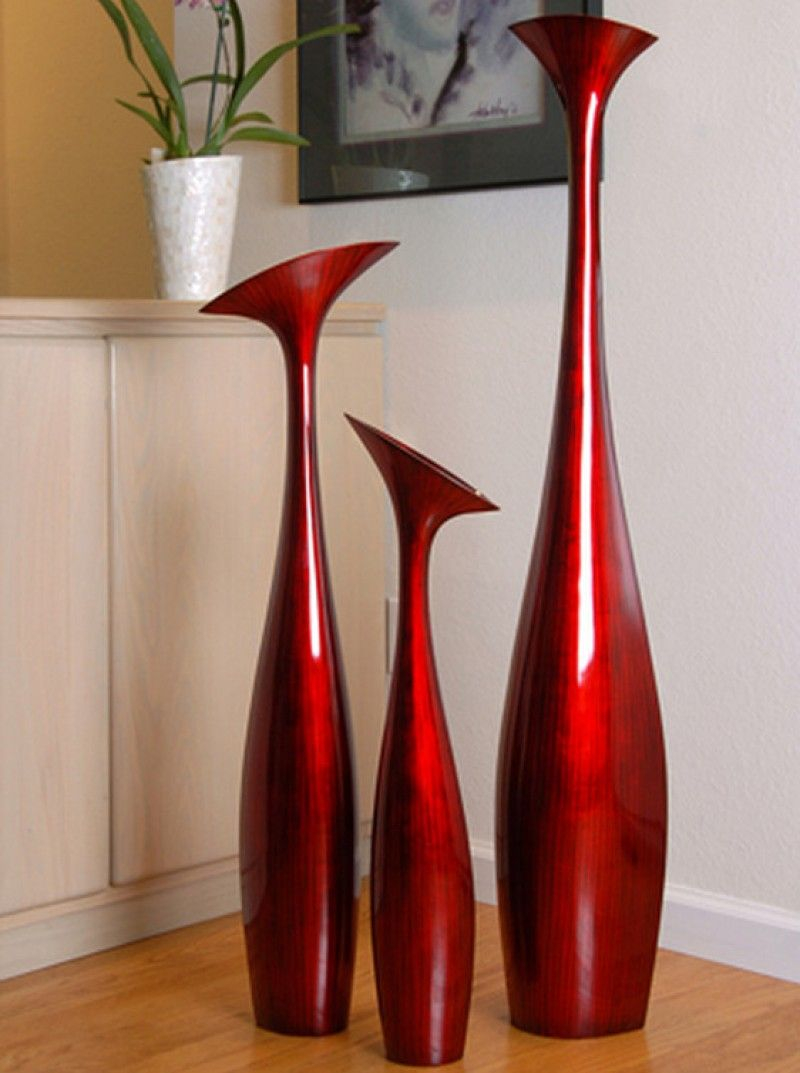Tall Flower Vase Large In Red Black Hebi Arts Floor intended for proportions 800 X 1073