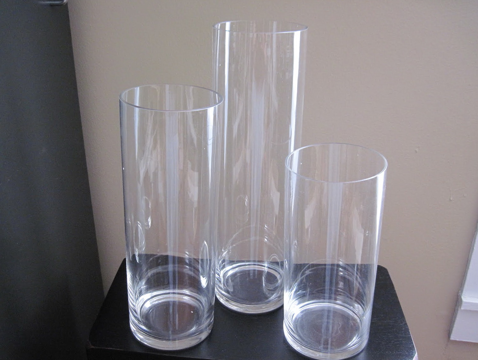 Tall Wide Cylinder Glass Vases Royals Courage Concepts throughout sizing 1552 X 1171