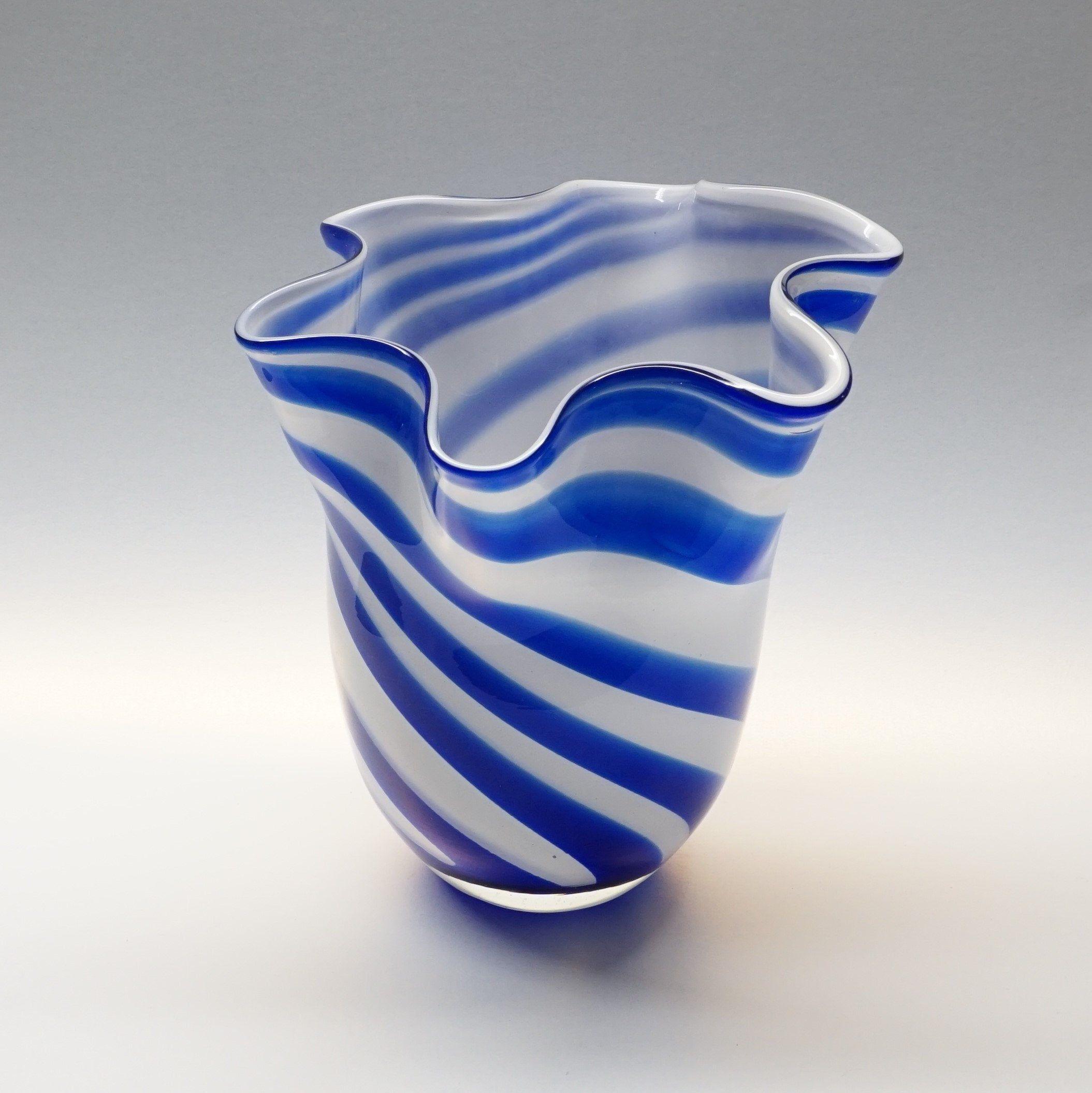 Vintage Empoli Style Blue White Striped Vase Glass regarding size 2109 X 2110