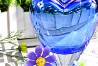 heart shaped vases centerpieces