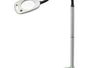 livarno lux led floor lamp with magnifying glass
