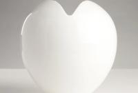 white love heart vase